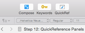 QuickReference su Scrivener