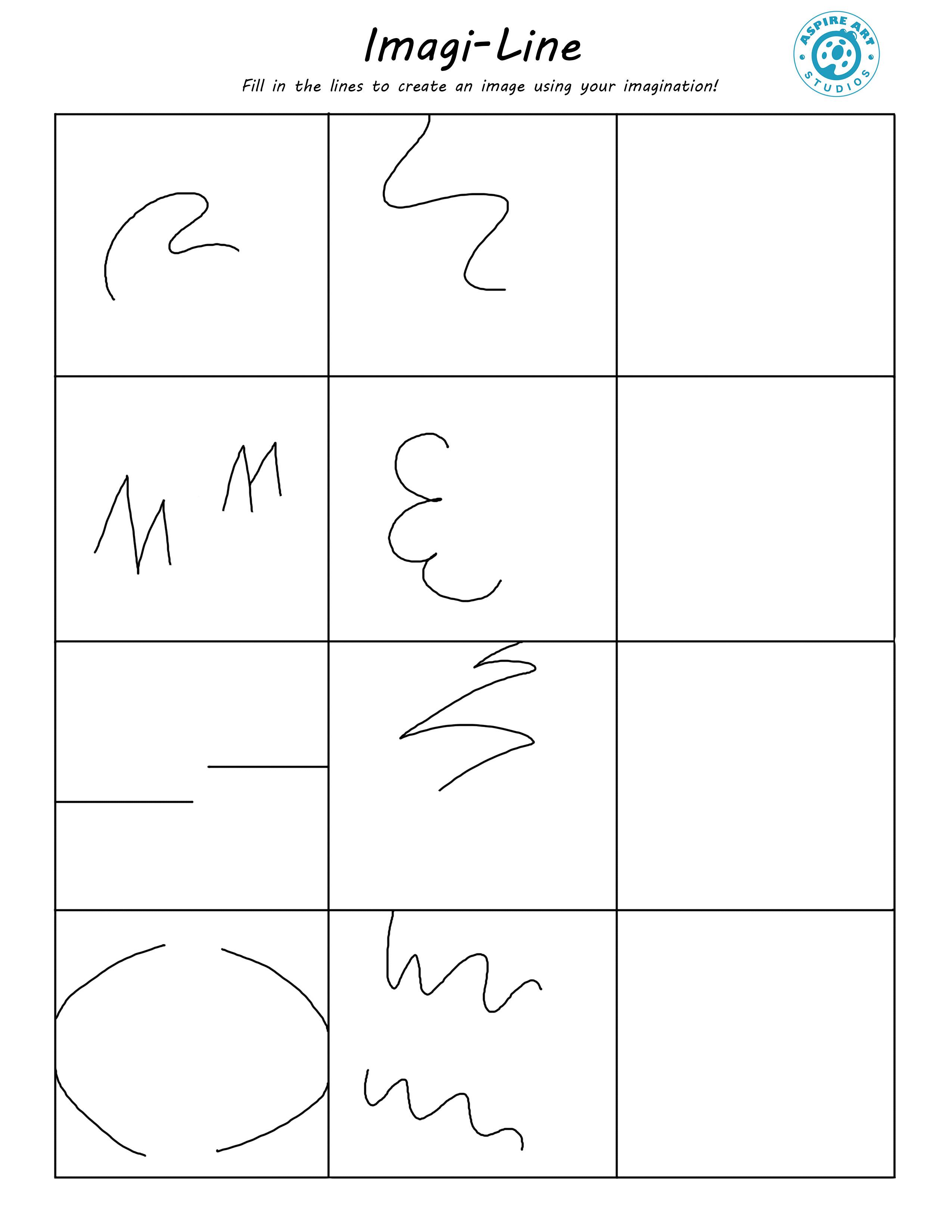 Imagi Line Worksheet