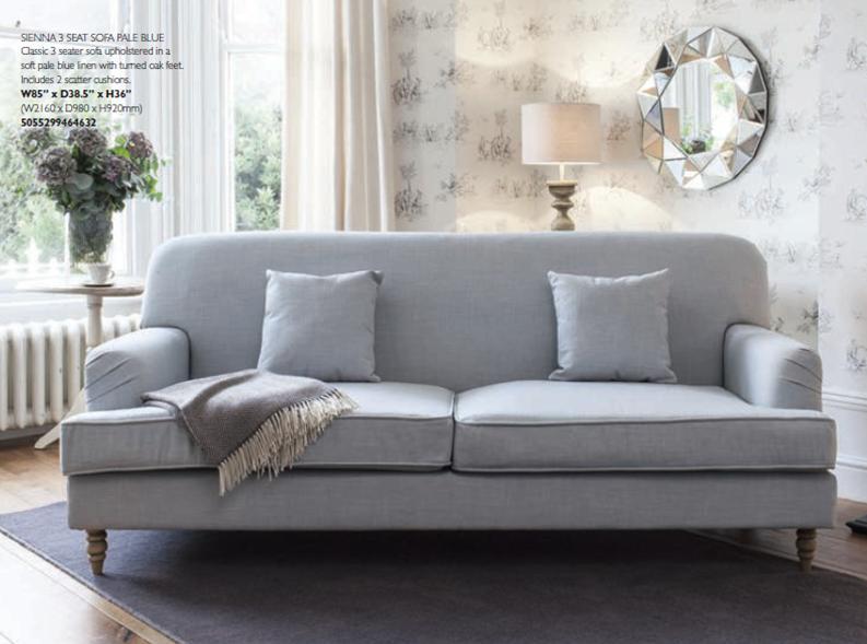 sienna sofa purple grey 3 seat pale blue 5055299464632 aspire design product code