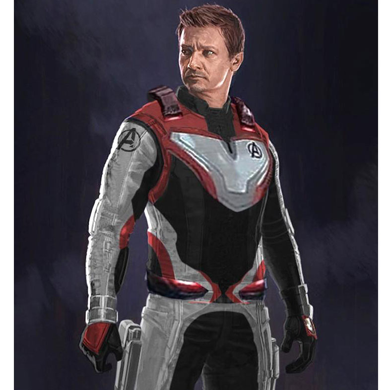 Avengers Endgame Hawkeye Quantum Leather Jacket
