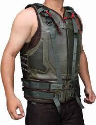 Bane Dark Knight Rises Leather Vest Jacket