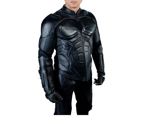 Batman Begins Black Leather Street Jacket