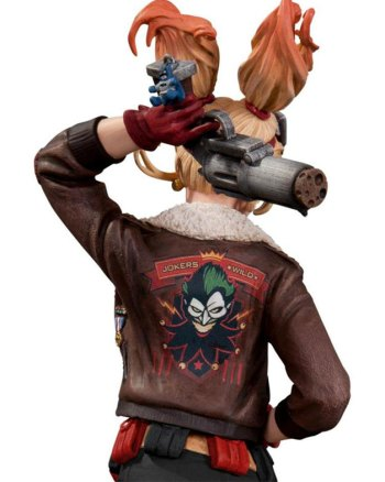 Harley Quinn Bombshell Distressed Brown Real Leather Jacket