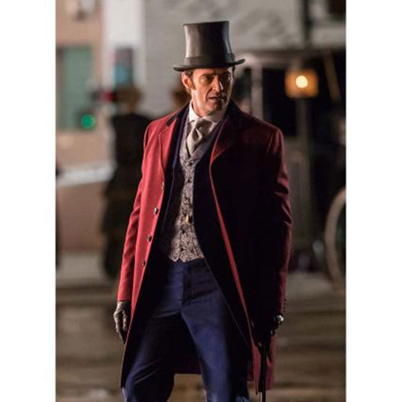 Hugh jackman The Greatest Showman Red Coat