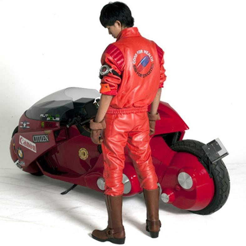 Kaneda Akira Capsule Red Pill Motorcycle Leather Jacket