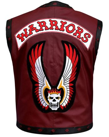 The Warriors Movie Leather Vest Burgundy