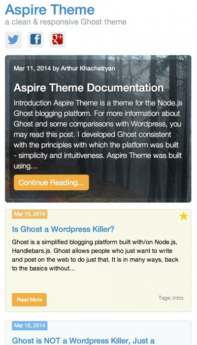 Aspire Ghost Theme Mobile