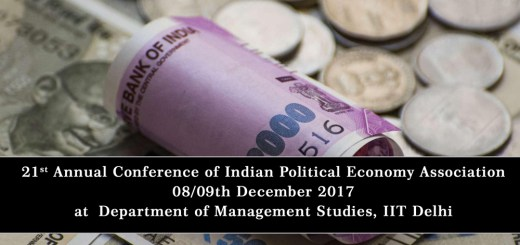 Annual Conference, Indian Political Economy Association, IPEA, IIT Delhi