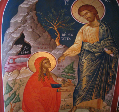 Icon of Mary Magdalene and the risen Christ