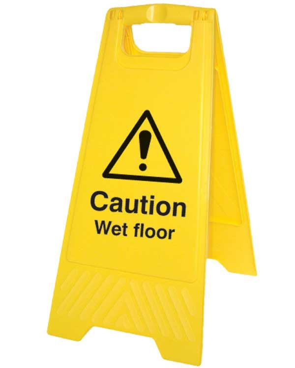Caution Wet Floor Sign On Folding A Board  From Aspli
