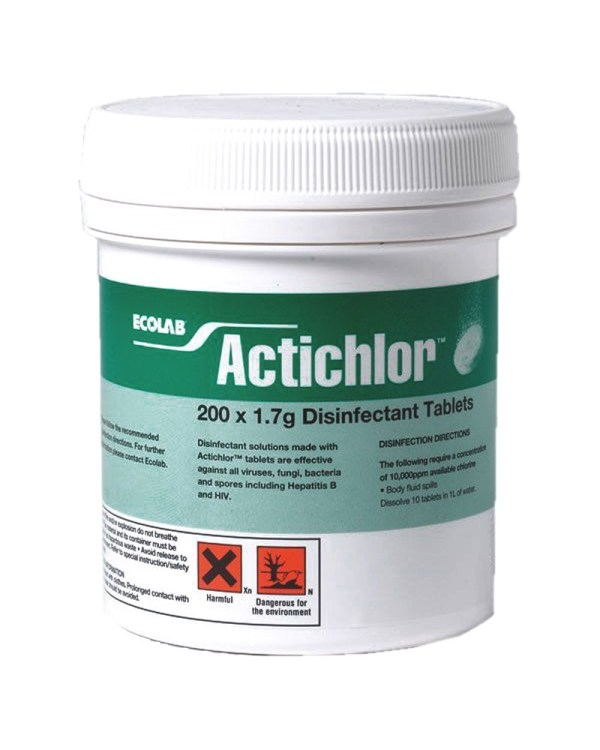 Actichlor Disinfectant Chlorine Tablets 200 X 1.7g Aspli Safety