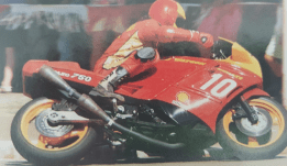 The Herb Watson Paso 750 on the racetrack at Wanneroo, Western Australia, 1988