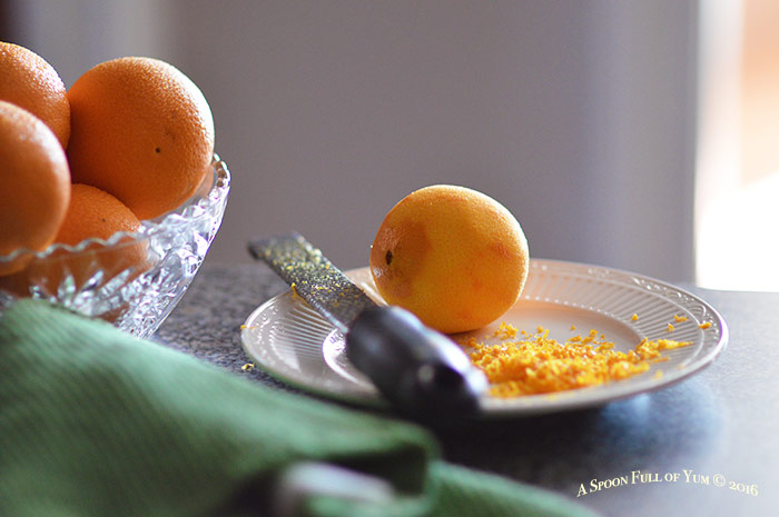 Silhouette of zested orange | Image by A Spoon Full of Yum