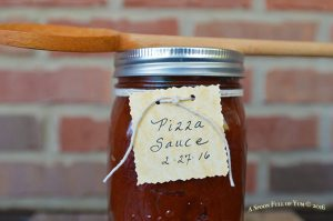 Homemade Pizza Sauce Labeled | Image by A Spoon Full of Yum