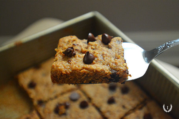 Grain Free Chocolate Chip Blondies | www.aspoonfullofyum.com