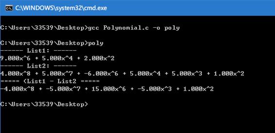 多項式加減運算:C語言描述_C語言入門知識