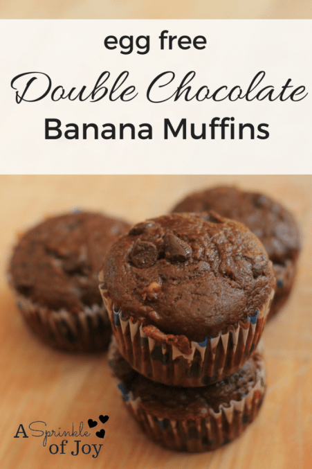 Double Chocolate Banana muffins from A Sprinkle of Joy