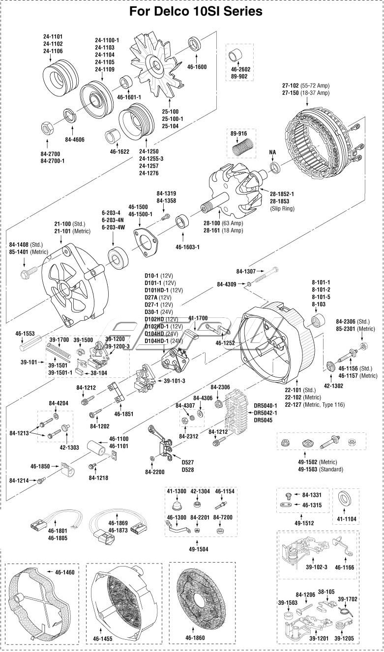 medium resolution of 10 si alternator wiring diagram imageresizertool com delco remy alternator diagram 22si delco alternator wiring diagram