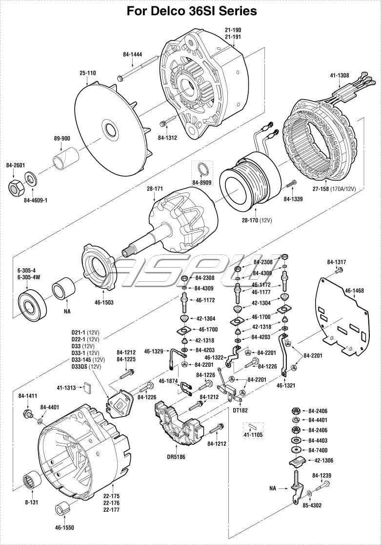 Delco Alternator PartsAlternator Parts, Starter Parts