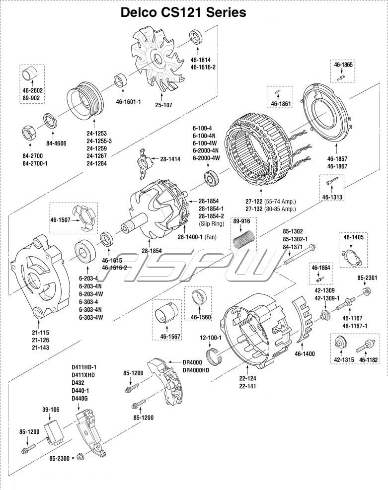 hight resolution of unit exploded views