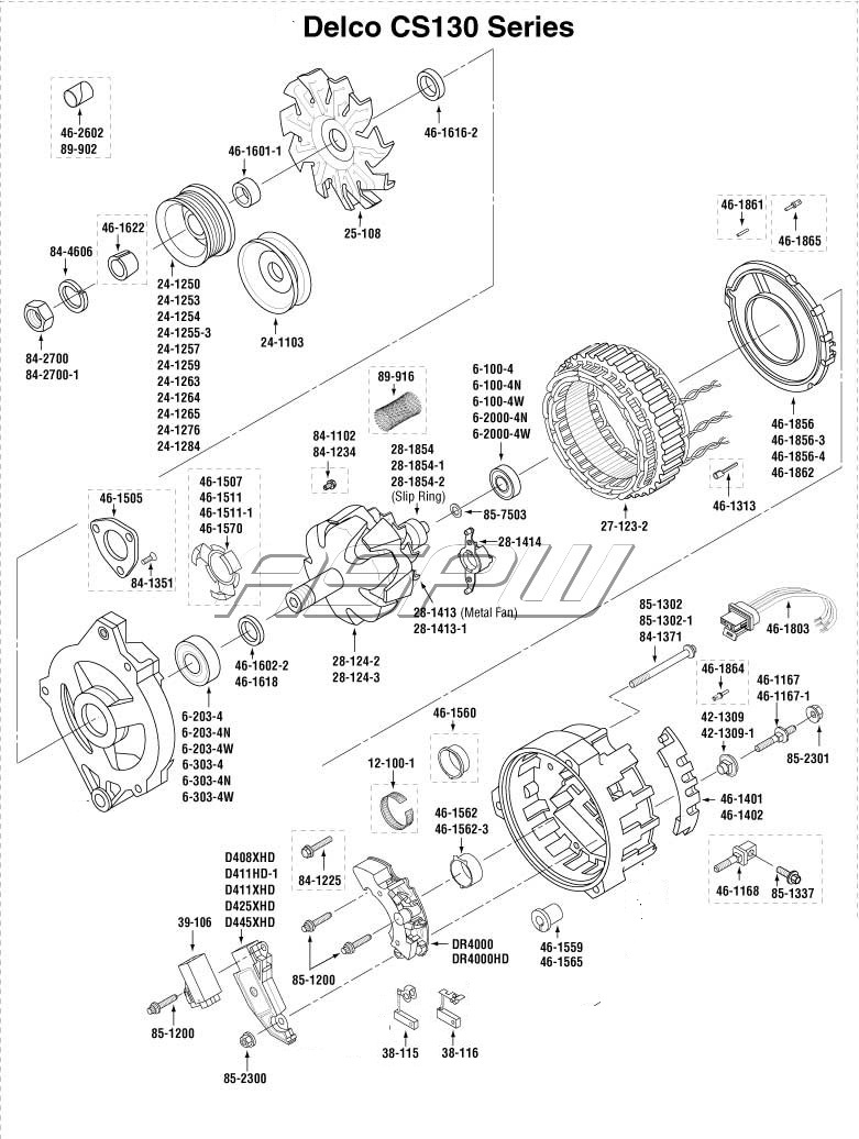 Ad244 Alternator Wiring Diagram Car Alternator To Battery