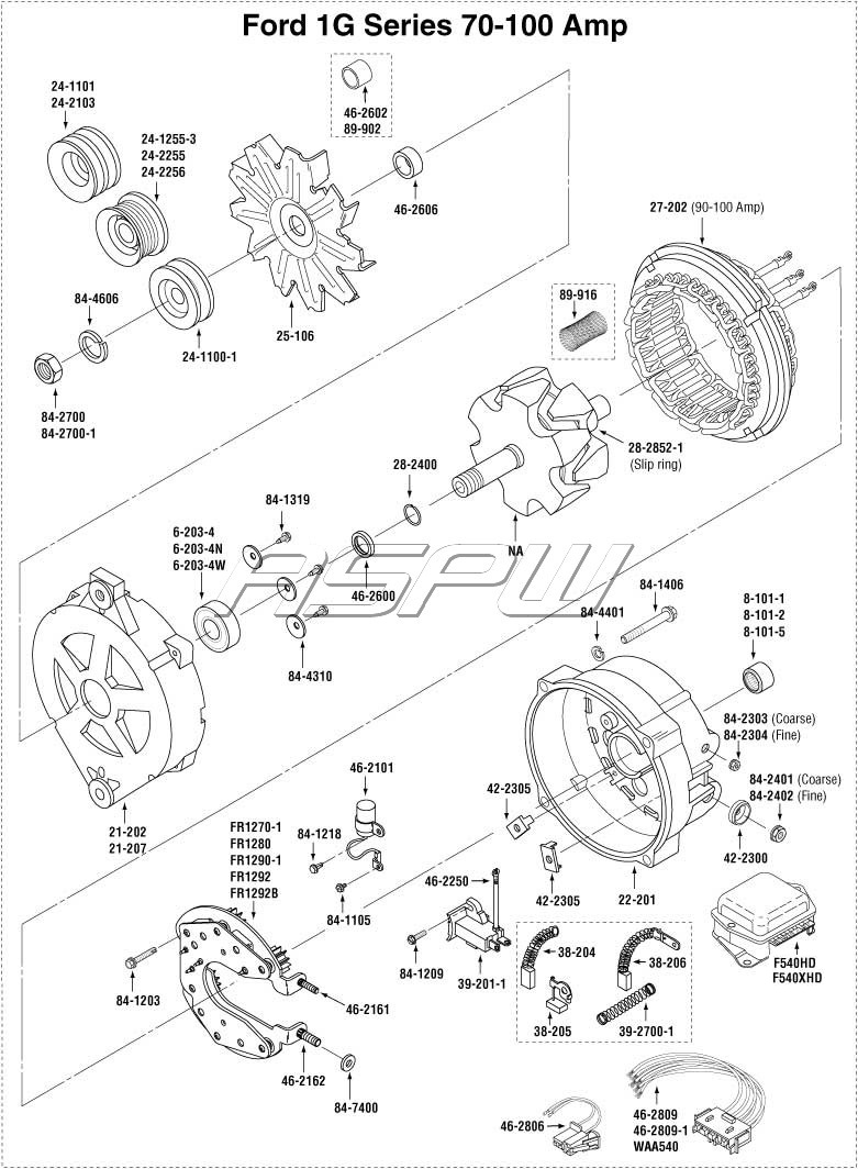 Ford Gear Reduction Starter Parts Diagram. Ford. Auto