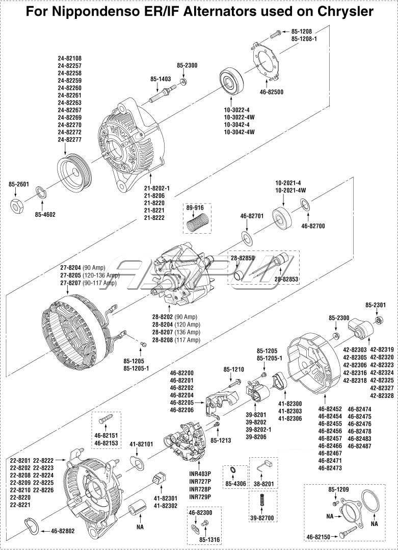 27si Delco Remy Alternator Wiring Diagram Exploded Views Alternator Parts Starter Parts Repair Kits