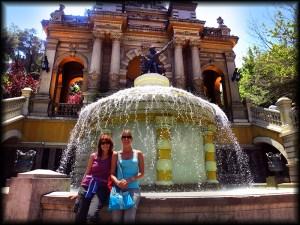 auti and mom fountain santiago