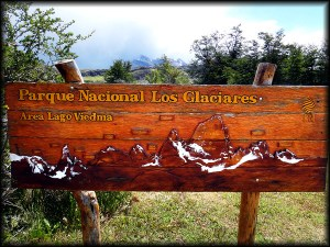 los glaciares sign photo