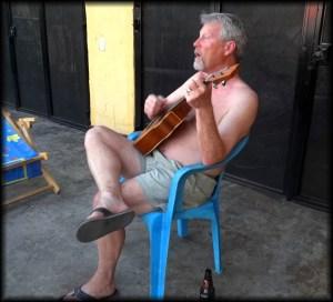 dad on patio photo