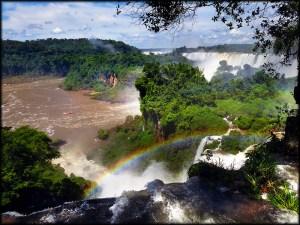 Iguazu Falls above
