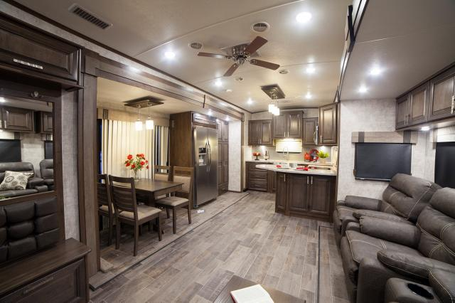 travel trailers with rear kitchen ikea prices 2017 open range 3x 388rks fifth wheel