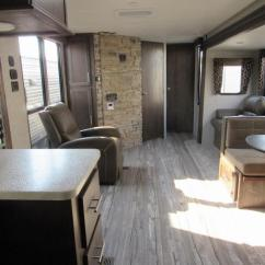 Front Kitchen Travel Trailer Island Countertop 2018 Cherokee 274vfk V Nose With