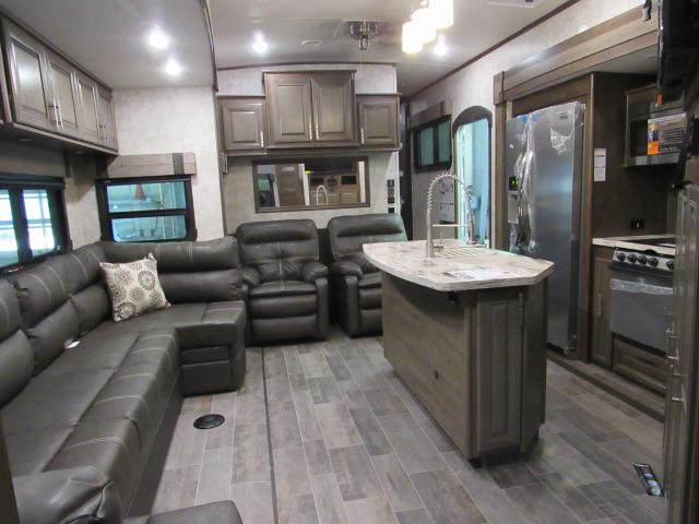 fifth wheel campers with bunkhouse and outdoor kitchen overstock island 2018 open range 3x 427bhs 5th bunks outside 1 5 baths