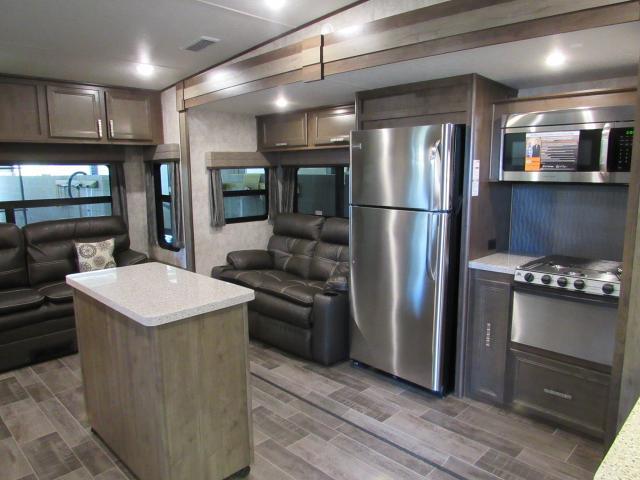 rear kitchen travel trailers wallpaper 2018 open range roamer 337rls living 5th wheel with ...