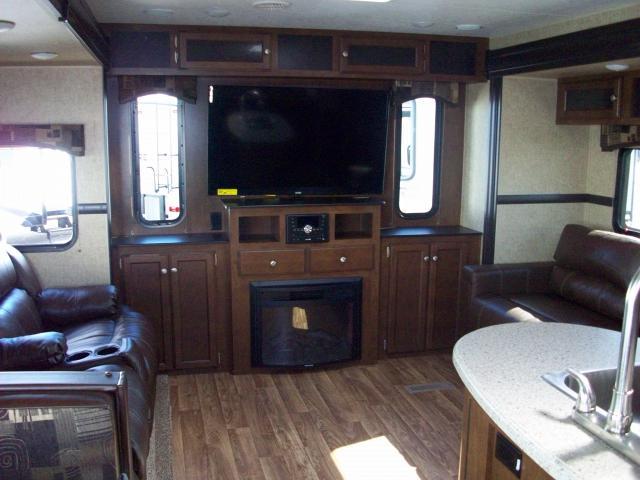 Sport Trek Touring Edition 334VRE Triple Slide w2 Fireplaces  2 Refrigerators Travel Trailer