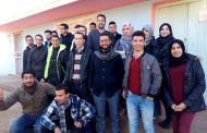 وقفة احتجاجية الأساتذة بالثانوية الاعدادية اولاد فاس
