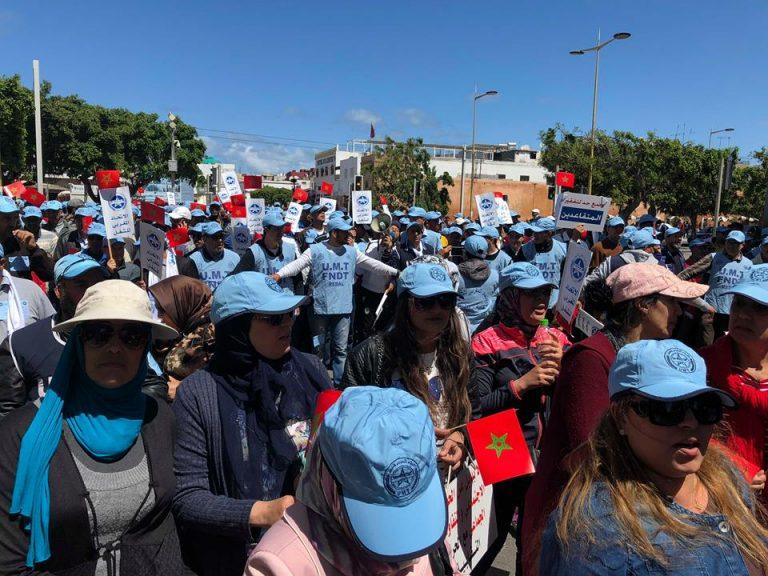 آلاف العمال يحتجون على سياسات الحكومة في فاتح ماي