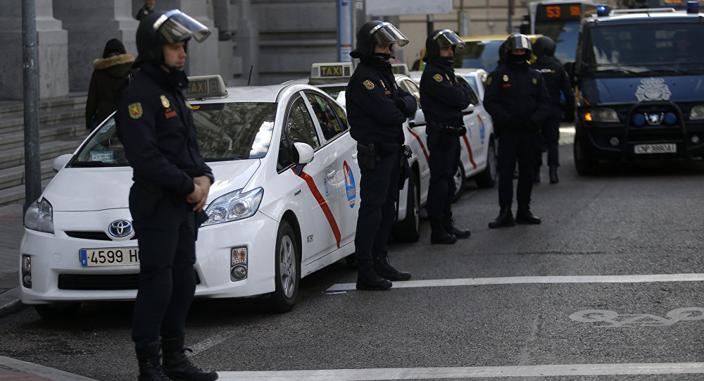 مظاهرات في مدريد احتجاجا على سياسة الحكومة ضد كتالونيا