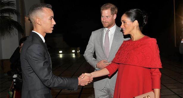الأمير مولاي الحسن يستقبل بالرباط الأمير هاري وعقيلته الأميرة ميغان