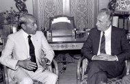 إسرائيل تنشر صورة تاريخية نادرة للملك الراحل الحسن الثاني مع شمعون بيريز