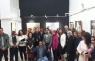 نجوم التشكيليين المغاربة يلتقون في معرض فني برواق