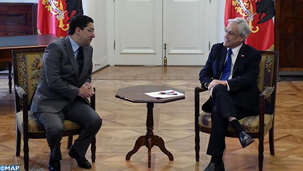 الرئيس الشيلي يستقبل ناصر بوريطة حاملا رسالة من جلالة الملك