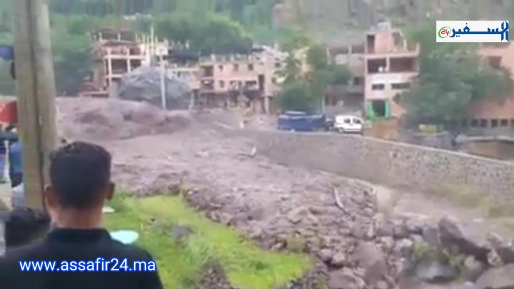 فيديو..فيضانات قوية تضرب منطقة امليل