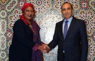 خلال استقبالها من طرف المالكي..رئيسة اللجنة الإفريقية لحقوق الإنسان والشعوب تنوه بسياسة المغرب في مجال حقوق الانسان على الصعيد الافريقي