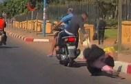 بالفيديو والصور لصان يسرقان سيدة ويعرضانها لاصابات في الرأس قرب مرجان عين السبع