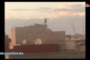 بالفيديو .. لحظة تهديد متطرف أبي الجعد لرجال الأمن