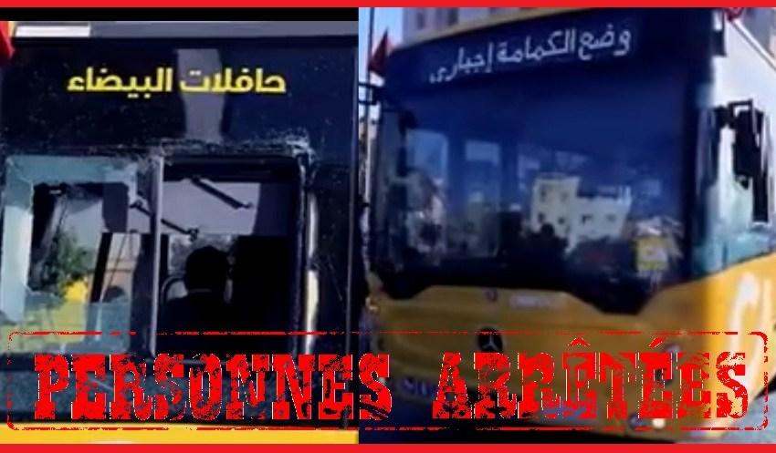 الأمن يوقف شخصين متورطين في تخريب حافلة  للنقل الحضري بالدار البيضاء