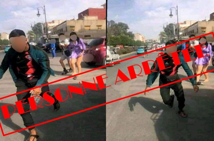 أمن طنجة يوقف قاصر متورط في التحرش الجنسي بفتاة في الشارع العام