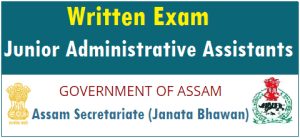 Junior Administrative Assistant JAA Assamexam